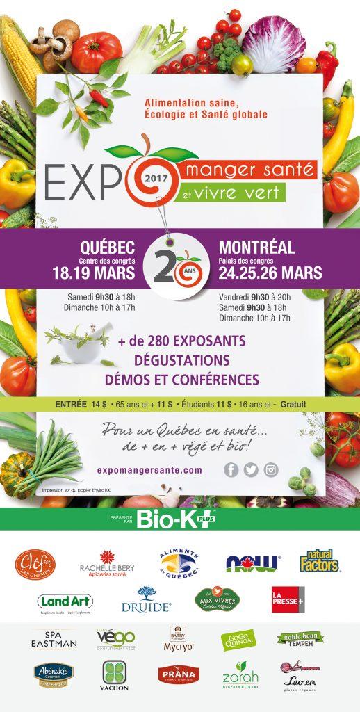Expo Manger Santé et Vivre Vert Montreal 24-25-26